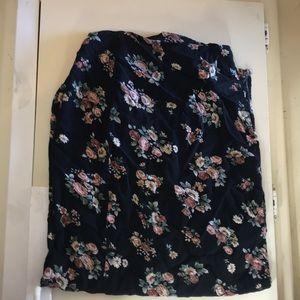 floral slit skirt